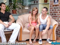 Doghouse Bi Curious MMF Anal Threesome