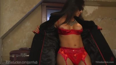 Hot TS Takes Down Motel Pervert