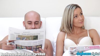 DogHouse Teen and MILF Cock-Sharing Threesome