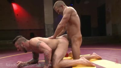 Two Muscled Hunks Battle For Domination