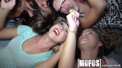 Mofos - College girls love lollipops and group sex