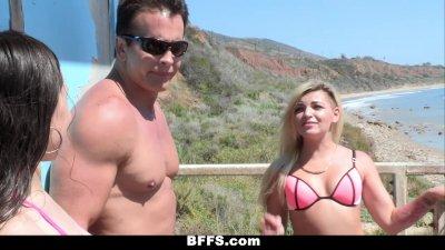 BFFS - Surfer Girls Have A Spring Break Threesome