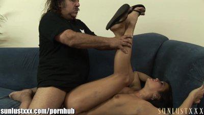 SunLustXXX Ron Jeremy checks under Cece Stone's skirt and NO PANTIES!