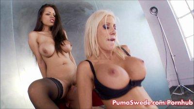 Big Tit Euro Blonde Puma Swede & Yuri Luv Fuck Photographers for Facial!