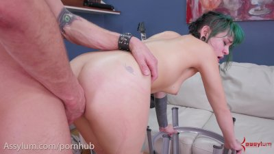 Hot 20 year-old punk bitch gets a rough anal punishment