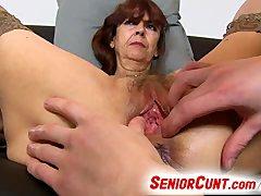 Very old hairy vagina of gradma Lada ...