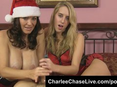 Big Tit Tampa MILF Charlee Chase Helps Give Santa a Double HJ