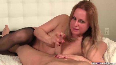 Mature slut sensual POV strokes