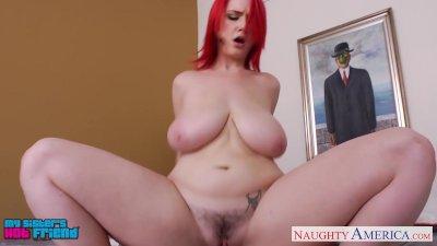 Fiery redhead Siri gets big tits fucked