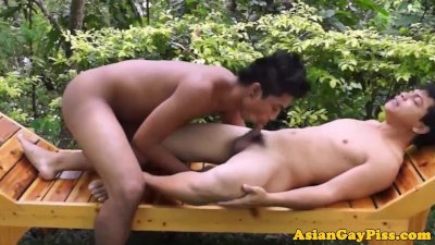 Goldenshower loving asian twinks bareback