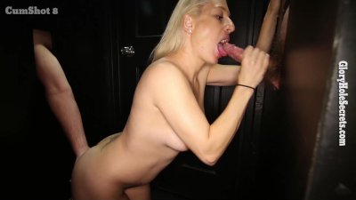 Gloryhole Secrets horny mother swallows loads of cum
