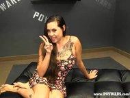 POV Wars Tattooed Asian Gets A 5 Guy Train Ran On Her