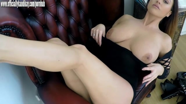 Sexy babe with big natural tits ready for fucking in latex boots and pvc
