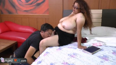 AgedLove this tattooed brunette is fucking horny man by AgedLove