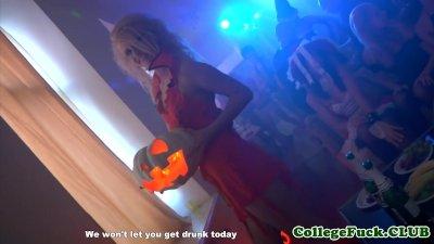 Russian coeds enjoy halloween orgy
