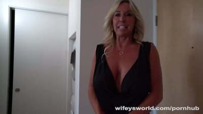 Busty Cougar Fucks Lucky College Coed