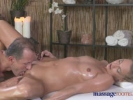 Massage Rooms Tall horny blonde sucks and fucks her way to mutiple orgasms