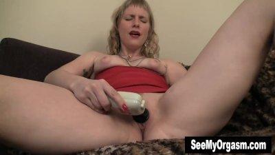 Blonde MILF Josie Fuck Dildo For Orgasm