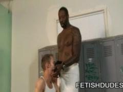 Ryan Rex and Hole Hunter: Kinky Locker Room Interracial Jockstrap