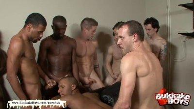 Black Boy Tries Bukkake For the First time - Bukkake Boys