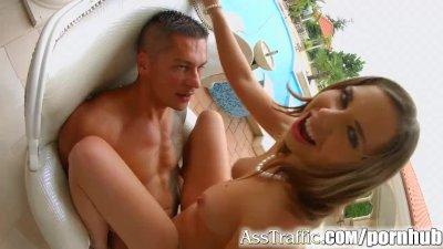Ass Traffic Curvy russian loves ass fucking