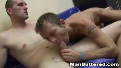 Awesome Gay Bareback Fuck and Cum Facial