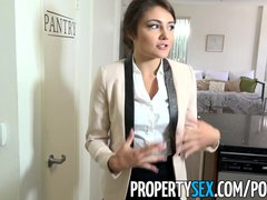 PropertySex   Ridiculously good looking real estate agent fucks her ex