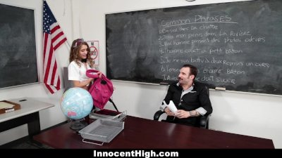 innocenthigh   petite schoolgirl banged in the classroom
