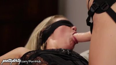 Jenna Sativa Fucks Blindfolded GF with Strapon