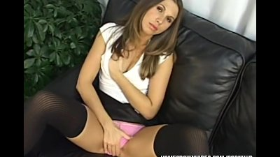 Pov Blowjob Brunette video: Veronica takes a very big cock in her tight little butthole
