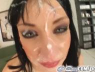 Cum For Cover Cockhound Wendy sucks six guys off and gets cum sprayed
