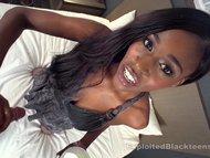 Slim Ebony Babe Double Penetrates Herself in this Anal Video