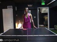BANG Real Teens: Cute, Innocent SoCal Teen Loses at Flash-Pong
