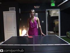 BANG Real Teens: Cute  Innocent SoCal Teen Loses at Flash Pong