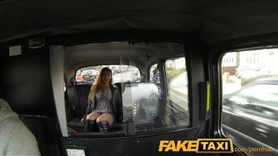 Public Oral Blowjob vid: FakeTaxi British babe with big tits fucks in public