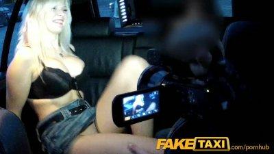 FakeTaxi Big tits blonde fucks