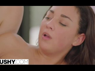 TUSHY Hot Young Teens Seduce Stepdad with Huge Cock