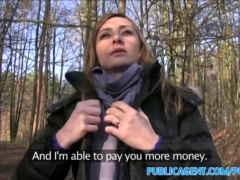 PublicAgent Sales lady has sex in a forest