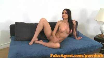 Audition Blowjob Castingcouch video: FakeAgent Beautiful model sucks and fucks in Office