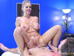 Brazzers   Julia Ann gets oiled up and ready