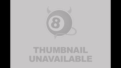 2 cumshots in a row on Maya leg in black nylons