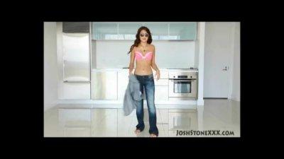Sexy Latina Teen AJ Estrada Sucks Big Black Cock