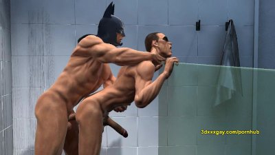 Robin and Batman's hot steamy shower sc
