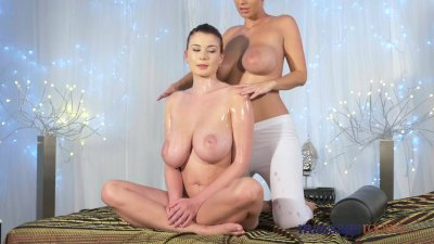 Massage Rooms Hot 69 and orgasms for horny young big boobs lesbians
