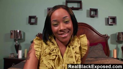 RealebonyExposed - She Takes Every Inch of Shorty Mac's Massive Cock