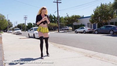 Stockings Blonde video: Hot Schoolgirl Gets Pissed When He Cums Inside Her!