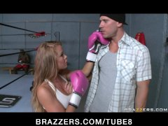 BIG TIT BLONDE TEEN PORNSTAR BOXER BLOWS COACH  FUCKS HIM DOGGY