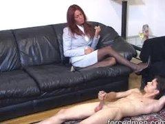 Solo cock masturbation for peeping Tom s punishment