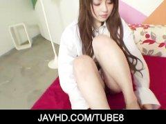 Hot asian gal Ria Sakurai shows just how much she loves dicks
