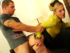 Pissing on the blonde he is fucking
